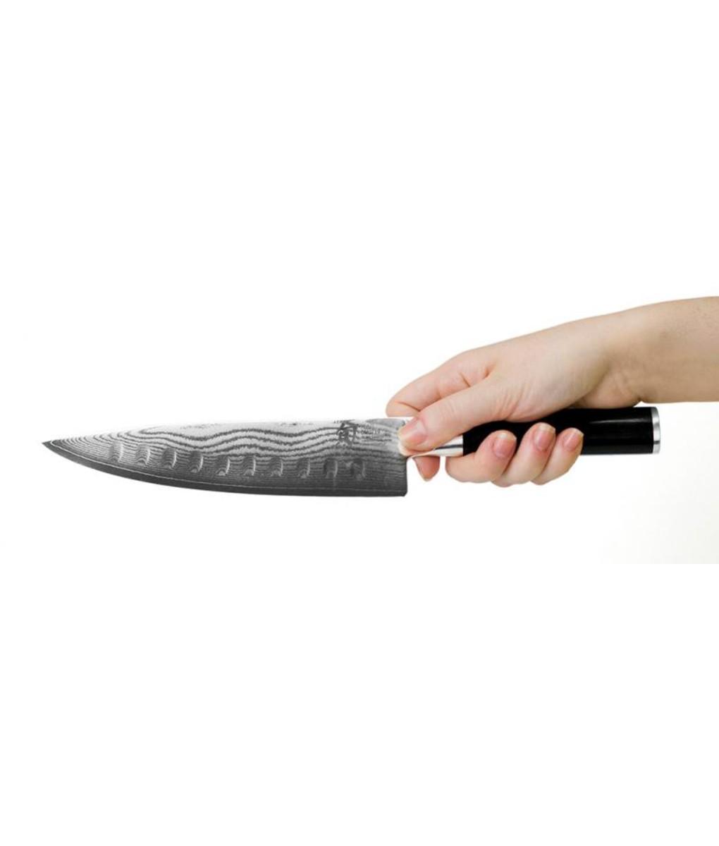 Shun Cooks Knife Scalloped Edge 20cm Johnson S Est