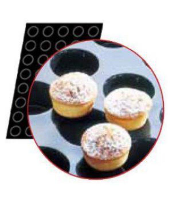 Flexipan Muffin Moulds  x 40 45ml - 51x29mm by Matfer Bourgeat