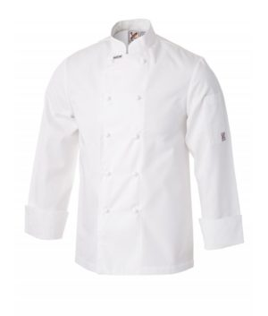 5 For The Price Of 4: Traditional Long Sleeve Jacket in White by Club Chef