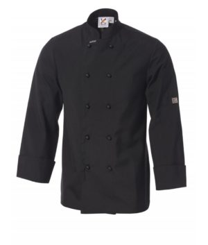 5 For The Price Of 4: Traditional Long Sleeve Jacket in Black by Club Chef