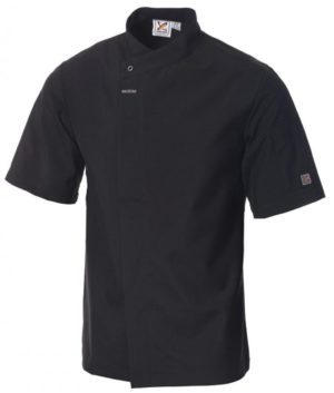 5 For The Price Of 4: Food Preparation Chef Jacket Black Short Sleeves by Club Chef