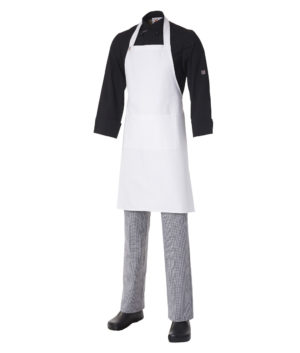 Bib Apron Heavyweight Cotton with Pocket by Club Chef