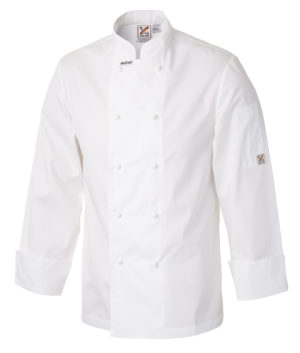 Traditional Chef Jacket in White - Long Sleeves by Club Chef