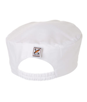 Traditional Flat Top Hat White (Skull Cap / Pill Box) by Club Chef