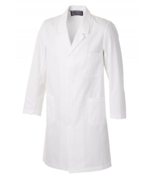Hygiene/Lab Coat with Sewn-On Buttons