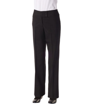 Ladies Fitted Black Trouser - Plain Front by Club Chef