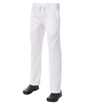 White Drawstring Trouser by Club Chef