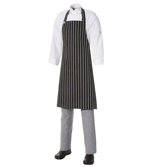 Bib Apron Pinstripe – Medium by Club Chef Aprons 3