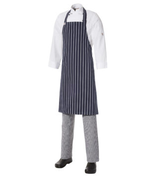 Bib Apron Pinstripe - Medium by Club Chef