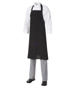 Bib Apron Poly/Viscose - Large by Club Chef