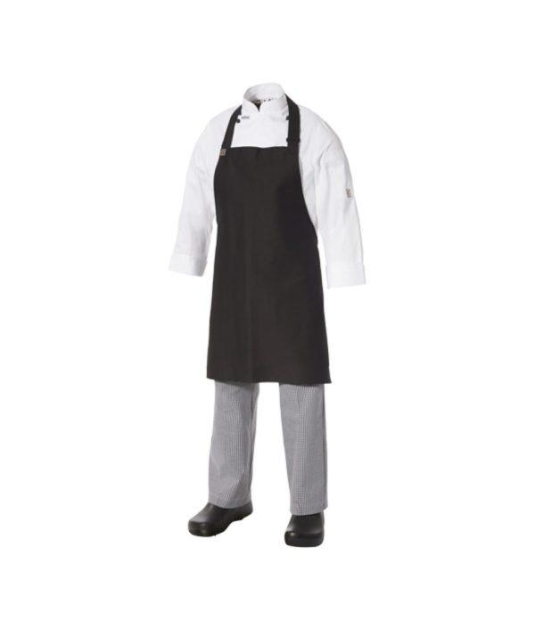 Children's size Bib Apron Black Poly/Viscose by Club Chef