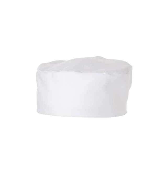 Flat Top Hat (Skull Cap / Pill Box) with mesh top by Club Chef Butcher & Baker Uniforms 3
