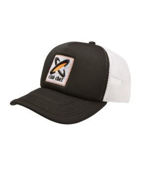 Trucker Cap Black/White with 3D Club Chef Logo
