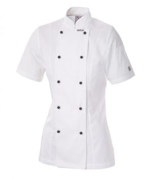 Ladies Executive Chef Short Sleeve Jacket by Club Chef