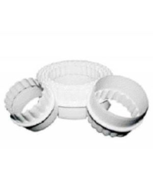 Cookie Cutter Set x 6 - Double Sided - Plain & Fluted