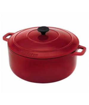 Le Chasseur Federation Red Round French Oven w/ Lid 28cm - 6.3L