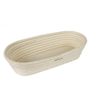 Bread Proofing Basket – 27x13x6.5cm – Oval – Rattan – BakeMaster Bakeware
